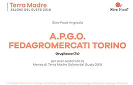 APGO Fornitore Ufficiale Terra Madre 2018
